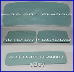 1937 1938 Chev GMC Pickup Glass Windshield Door Rear Back Set Green Tint
