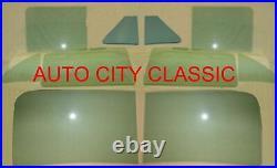 1951 Hudson Hornet 4dr sedan 2pc Windshield & Side Glass Green Tint long WB