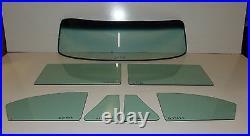 1953 1954 Chev 4 Door Sedan Glass Windshield Vent and Doors Set Green Tint