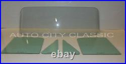 1955 1956 Ford Sedan Delivery Glass Windshield Vent Door Set Green Tint