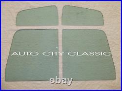 1957 1960 Ford Pickup Windshield Vent Door Big Rear Back Glass Set Green Tint