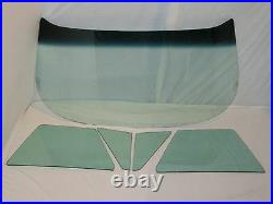 1963 1967 Chev Corvette Convertible Glass Windshield Vent Door Set Green Tint