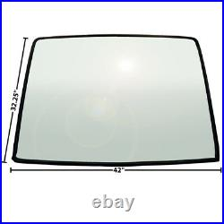19671968 Mustang Fastback Tinted & Shaded Rear Window Glass withRubber Seal X3671
