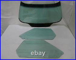 1968 1972 Corvette Convertible Glass Windshield Doors Green Tint Dated