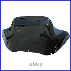 2013-below Harley Davidson Road Glide Dark Smoked Tinted 12 Front Windshield