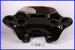 BLACK BATWING FAIRING YAMAHA V STAR 650 1100 CLASSIC w tinted WINDSHIELD