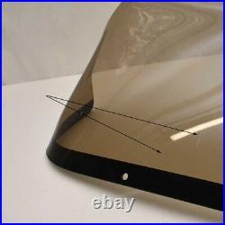 Boat Plexiglass Windshield 28 3/4 x 11 1/4 Inch Smoke Tint Scratches
