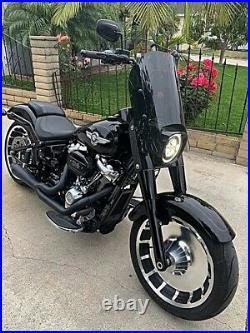 Calsci 15.5 Tinted Shorty Windshield for Harley Fat Boy FLFB 2018-2021