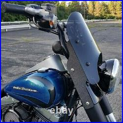 Calsci Tinted Shorty Windshield for Harley Fat Boy FLSTF 1990-2017