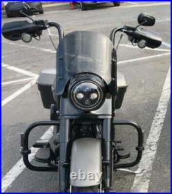 Calsci Tinted Shorty Windshield for Harley Road King FLHR