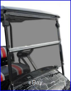 Club Car DS Golf Cart (Tinted) Folding Flip Impact Modified Windshield 1982-1999
