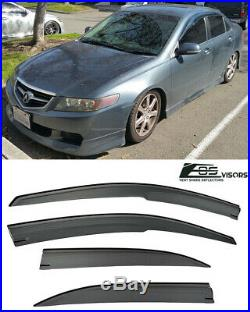 EOS For 04-08 Acura TSX Mugen Style Smoke Tinted Side Window Visors Rain Guard