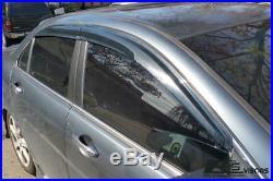 EOS For 04-08 Acura TSX Mugen Style Smoke Tinted Side Window Visors Rain Guard