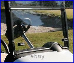 EZGO RXV Golf Cart 2008-Up Tinted Folding Front Windshield with Rubber Trim