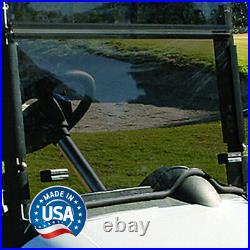 EZGO RXV Tinted (with Rubber Trim) Fold Down Golf Cart Windshield US Made