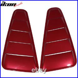 Fits 10-14 Mustang OE Side Window Louver Painted #U6 Red Candy Tint Metallic 2PC