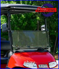 Foldable Tinted Windshield for EZGO RXV Golf Cart