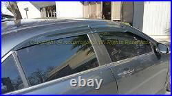 For 04-08 Acura TSX JDM Mugen Style Smoke Tinted Side Window Visors Rain Guards