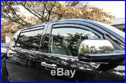 For 07-18 Toyota Tundra Pick Up Truck Crew Cab IN-CHANNEL Side EOS Window Visors