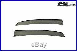 For 16-Up Honda Civic Hatchback Smoke Tinted Side Vent Mugen Style Window Visors