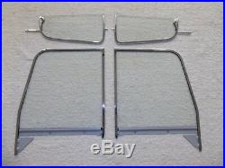 Glass 1955-59 Chevy Pickup Tint Shade Windshield Clear Vent Door Assembled Back