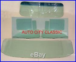 Glass 1957 Chevy Pontiac 4dr Hardtop Windshield Vent Door Rear Back Green Tint