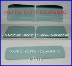 Glass for 1941 Chevy Pickup Truck Windshield 2 Piece Door Back Set Green Tint