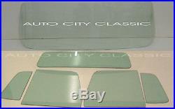 Green Tint Glass 1957 1960 Ford Pickup Windshield Vent Door Standard Back
