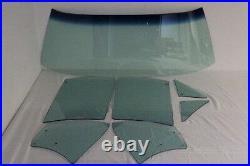 Green Tint Glass 1967 Camaro Firebird Convertible Windshield Vent Door Quarter