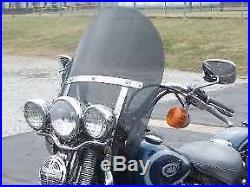 Harley Davidson Heritage/FatBoy OEM height 20 Lexan poly. DARK tint windshield