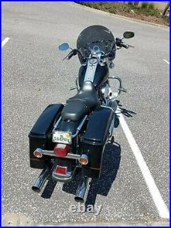 Harley Davidson Road King DARK tint windshield MID height 16.5 Lexan polycarb