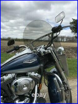 Harley Davidson Road King light tint windshield MID height 16.5 Lexan polycarb