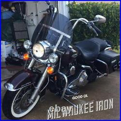 Harley Davidson Road King windshield dark tinted shorty 14.25 Lexan polycarb