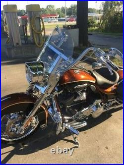 Harley Road King windshield light tint shorty 14.25 Lexan polycarbonate