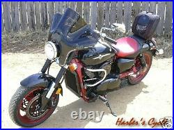 Honda Shadow Sabre & ACE VT1100 S20T Smoke Tinted Stealth Windshield withHardware