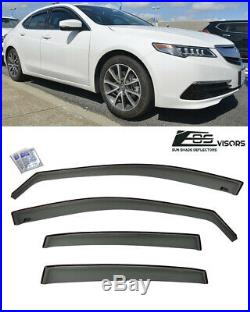 JDM IN CHANNEL Smoke Tinted Side Window Deflector Visors For 15-Up Acura TLX
