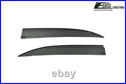 JDM Tape-On SMOKE TINTED Side Vent Sun Shade Rain Guards For 04-08 Acura TSX CL9