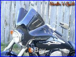 Kawasaki Meanstreak VN 1500 1600 S20T Smoke Tinted Stealth Fairing/Windshield
