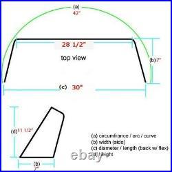 Kenner 30 Inch Green Tinted Boat Plexiglass Windshield