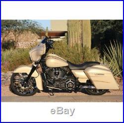 Klock Werks Flare 6.5 Tint Windshield for 14-20 Harley Touring FLHT FLHX FLHTKL