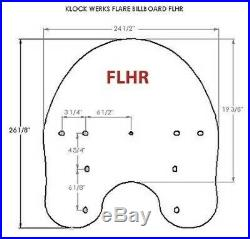 Klock Werks Tint 20 Flare Windshield 94-19 FLHR Road King 12-16 FLD Switchback