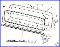 New Windshield Glass 1968-1975 68-75 Jeep Cj Cj5 Slight Tint