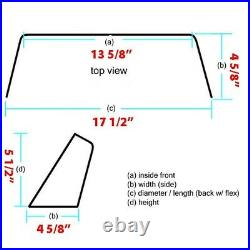 Premier Boat Plexiglass Windshield 17 1/2 x 5 1/2 Inch Tinted