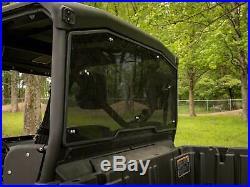 SuperATV Dark Tinted Heavy Duty Rear Windshield for Can-Am Defender (2016+)