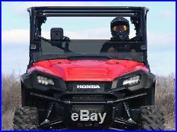 SuperATV Half Windshield for Honda Pioneer 1000 / 1000-5 (2016+) Dark Tint