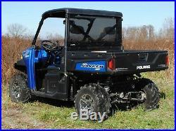 SuperATV Lightly Tinted Rear Windshield for Polaris Ranger XP 1000 / Diesel