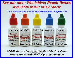 Thin Medium Tinted Pit Filler Windshield Rock Chip Crack Repair Resin 240ml 8oz