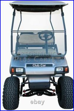 Tinted Fold Down Golf Cart Windshield for Club Car DS 2000.5 and Up
