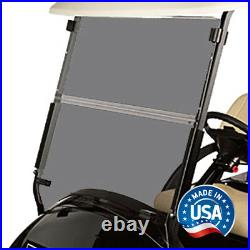 Tinted Fold Down Golf Cart Windshield for Club Car Precedent 2004 and Up
